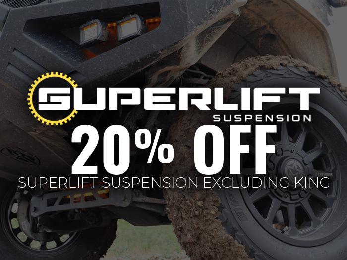 20% Off Superlift Suspension