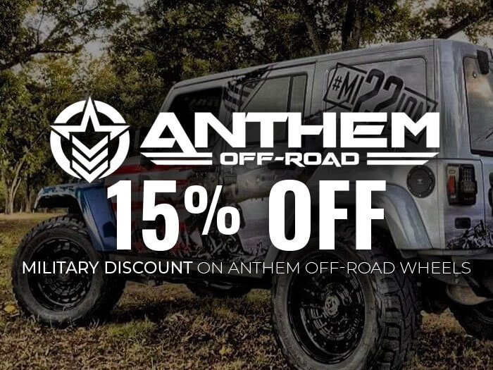 Military Discount - 15% Off All Anthem Off-Road Wheel