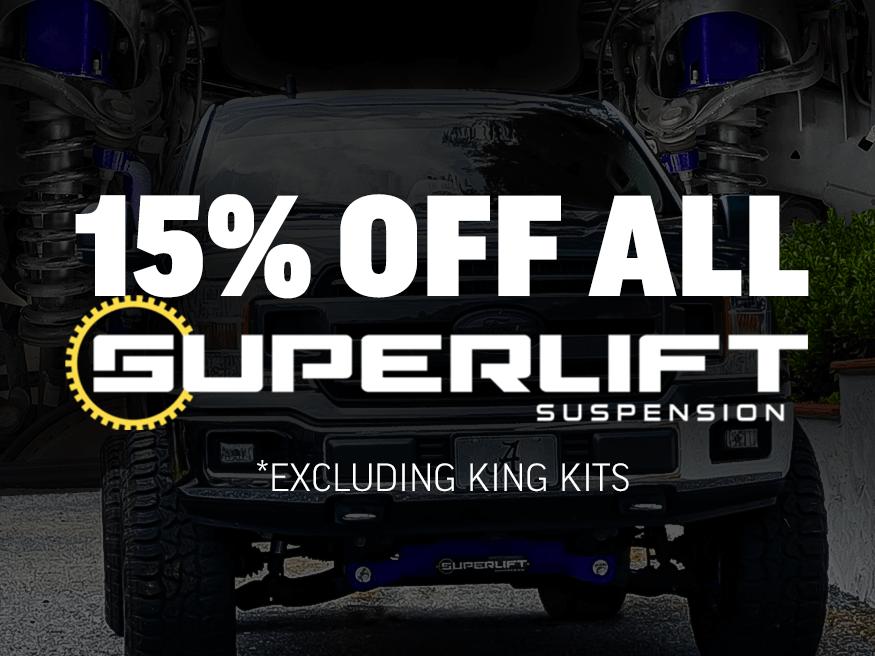 15% Off Superlift Suspension
