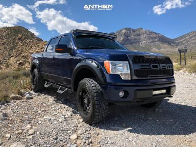 """2009 Ford F-150 - 18x9 18mm - Anthem Off-Road Enforcer - Suspension Lift 3"""" - 295/70R18"""