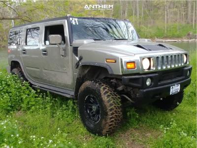 """2003 Hummer H2 - 17x9 -12mm - Anthem Off-road Enforcer - Leveling Kit - 37"""" x 12.5"""""""