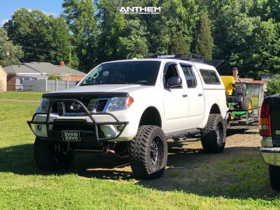 "2014 Nissan Frontier - 20x10 -24mm - Anthem Off-Road Gunner - Suspension Lift 8"" - 295/55R20"
