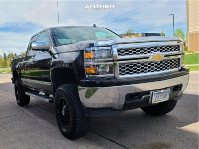 "2014 Chevrolet Silverado 1500 - 18x9 12mm - Anthem Off-Road Instigator - Suspension Lift 6"" - 295/70R18"