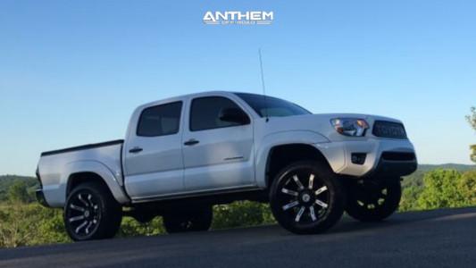 2013 Toyota Tacoma - 20x10 -24mm - Anthem Off-Road Defender - Leveling Kit - 275/60R20