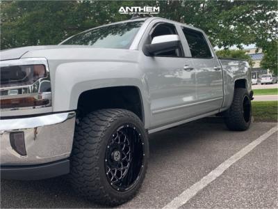 2016 Chevrolet 1500 - 20x12 -44mm - Anthem Off-Road Avenger - Leveling Kit - 285/55R20