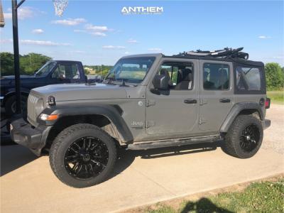 "2019 Jeep Wrangler - 20x10 -24mm - Anthem Off-Road Equalizer - Stock Suspension - 33"" x 12.5"""