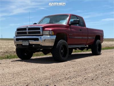 "1999 Dodge Ram 2500 - 20x12 -44mm - Anthem Off-Road Gunner - Suspension Lift 3"" - 35"" x 12.5"""