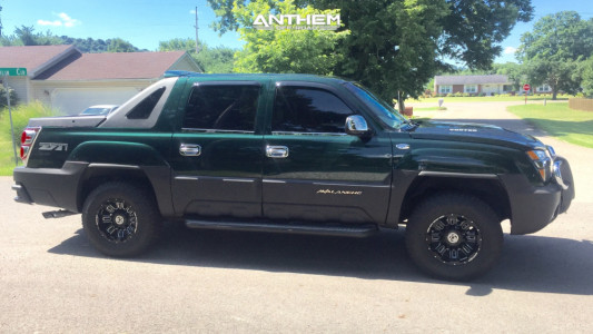 2003 Chevrolet Avalanche 1500 - 17x9 -12mm - Anthem Off-Road Enforcer - Air Suspension - 245/75R17