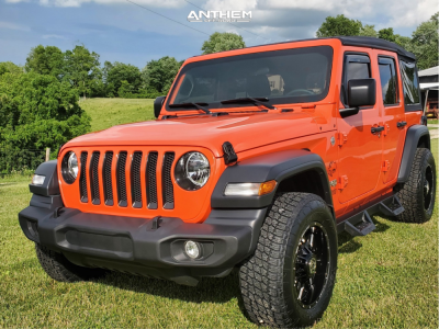 2019 Jeep Wrangler - 18x9 0mm - Anthem Off-Road Equalizer - Stock Suspension - 275/65R18