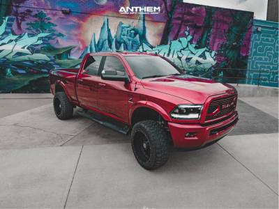 "2018 Ram 2500 - 22x12 -44mm - Anthem Off-Road Instigator - Suspension Lift 3"" - 35"" x 12.5"""