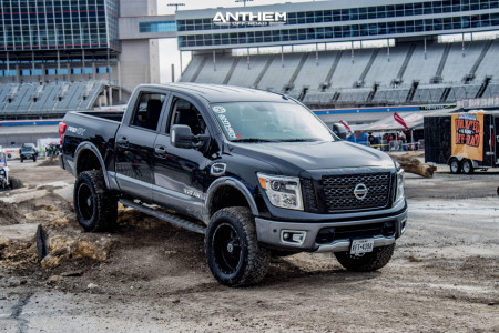 "2017 Nissan Titan - 20x10 -24mm - Anthem Off-Road Gunner - Suspension Lift 6"" - 35"" x 12.5"""