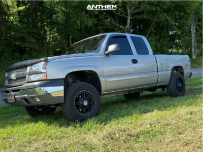 2003 Chevrolet Silverado 1500 - 18x9 -12mm - Anthem Off-Road Instigator - Leveling Kit - 225/70R18