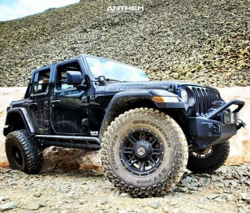 "2018 Jeep Wrangler - 17x9 0mm - Anthem Off-Road Instigator - Suspension Lift 3.5"" - 37"" x 12.5"""