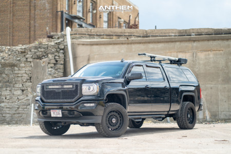 "2017 GMC Sierra 1500 - 20x10 -18mm - Anthem Off-Road Viper - Suspension Lift 4"" - 295/55R20"