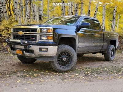 "2015 Chevrolet Silverado 1500 - 18x9 0mm - Anthem Off-Road Equalizer - Suspension Lift 4.5"" - 275/75R18"