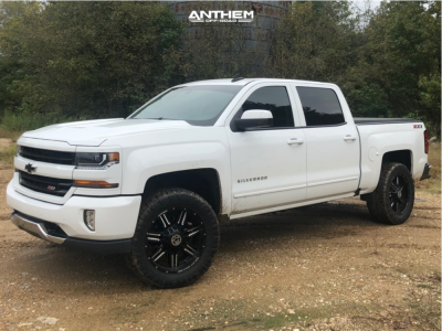 "2017 Chevrolet Silverado 1500 - 20x10 -24mm - Anthem Off-Road Equalizer - Leveling Kit - 33"" x 12.5"""