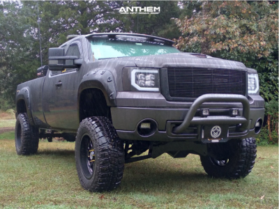 "2011 GMC Sierra 1500 - 20x10 -24mm - Anthem Off-Road Intimidator - Suspension Lift 10"" - 37"" x 12.5"""