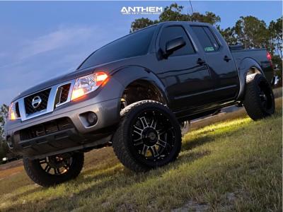 "2019 Nissan Frontier - 20x10 -23mm - Anthem Off-Road Instigator - Suspension Lift 7"" - 32"" x 10.5"""