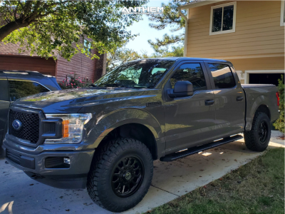 2018 Ford F-150 - 18x9 18mm - Anthem Off-Road Intimidator - Leveling Kit - 295/70R18