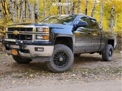 "2015 Chevrolet Silverado 1500 - 18x9 0mm - Anthem Off-Road Equalizer - Suspension Lift 4.5"" - 375/75R18"