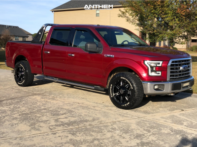 """2016 Ford F-150 - 18x9 -12mm - Anthem Off-Road Equalizer - Stock Suspension - 33"""" x 12.5"""""""