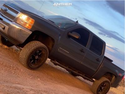 "2013 Chevrolet Silverado 1500 - 20x10 -24mm - Anthem Off-Road Equalizer - Suspension Lift 6"" - 33"" x 12.5"""