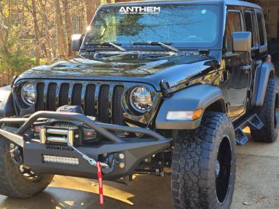 "2021 Jeep Wrangler - 20x10 -24mm - Anthem Off-Road Equalizer - Stock Suspension - 35"" x 12.5"""