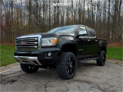 """2016 GMC Canyon - 20x9 0mm - Anthem Off-Road Equalizer - Suspension Lift 4"""" - 275/55R20"""