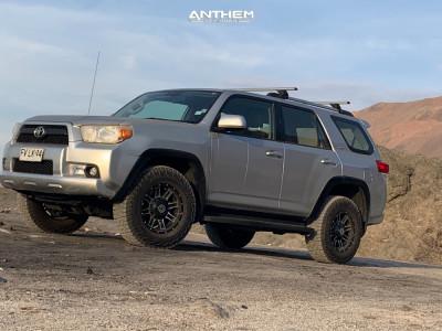 2013 Toyota 4Runner - 17x9 0mm - Anthem Off-Road Instigator - Leveling Kit - 245/70R17