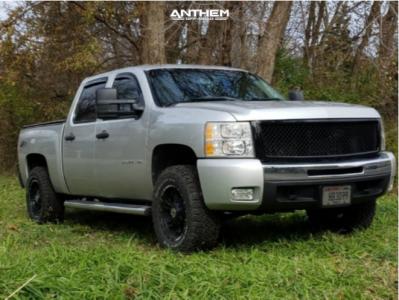 "2010 Chevrolet Silverado 1500 - 18x9 -12mm - Anthem Off-Road Aviator - Suspension Lift 2.5"" - 285/65R18"