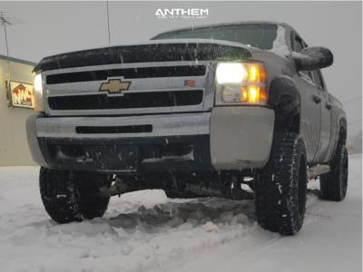 "2009 Chevrolet Silverado 1500 - 20x12 -44mm - Anthem Off-Road Avenger - Suspension Lift 6"" - 33"" x 12.5"""