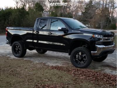 "2020 Chevrolet Silverado 1500 - 20x9 0mm - Anthem Off-Road Equalizer - Suspension Lift 6"" - 35"" x 13.5"""