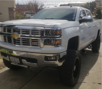 "2015 Chevrolet Silverado 1500 - 20x10 -24mm - Anthem Off-Road Instigator - Suspension Lift 9"" - 35"" x 12.5"""