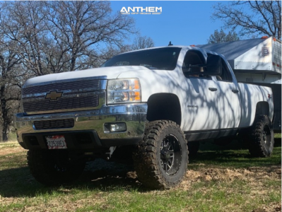 "2011 Chevrolet Silverado 2500 HD - 20x10 -24mm - Anthem Off-Road Gunner - Suspension Lift 6"" - 37"" x 13.5"""