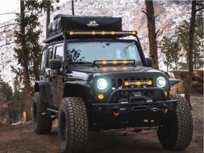 "2009 Jeep Wrangler JK - 20x10 -18mm - Anthem Off-Road Viper - Suspension Lift 4"" - 37"" x 12.5"""