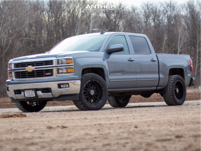 "2015 Chevrolet Silverado 1500 - 20x10 -24mm - Anthem Off-Road Equalizer - Stock Suspension - 33"" x 12.5"""