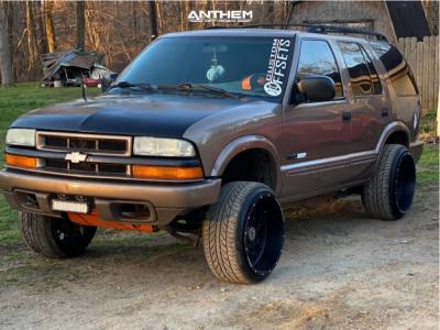 "2004 Chevrolet Blazer - 20x12 -44mm - Anthem Off-Road Avenger - Suspension Lift 3"" - 27"" x 10.5"""