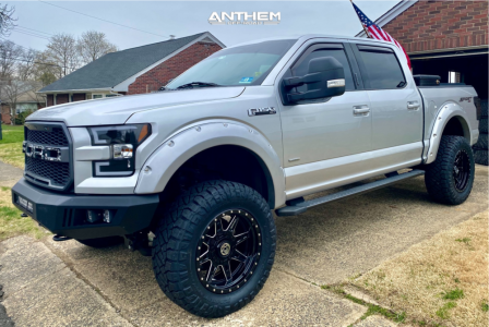 "2015 Ford F-150 - 20x10 -18mm - Anthem Off-Road Rogue - Suspension Lift 6"" - 35"" x 12.5"""