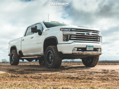 "2021 Chevrolet Silverado 3500 HD - 20x9 0mm - Anthem Off-Road Rogue - Leveling Kit - 35"" x 12.5"""
