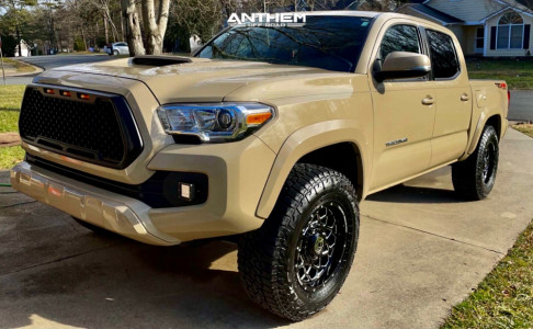 "2017 Toyota Tacoma - 17x9 -12mm - Anthem Off-Road Avenger - Stock Suspension - 32"" x 10.5"""
