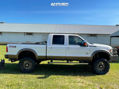 "2015 Ford F-250 Super Duty - 20x10 -18mm - Anthem Off-Road Avenger - Suspension Lift 6"" - 37"" x 13.5"""