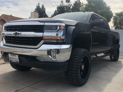 "2017 Chevrolet Silverado 1500 - 20x10 0mm - Anthem Off-Road Equalizer - Suspension Lift 4.5"" - 33"" x 12.5"""