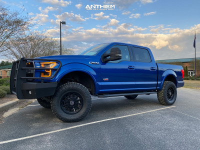 "2017 Ford F-150 - 18x9 18mm - Anthem Off-Road Intimidator - Suspension Lift 6"" - 35"" x 12.5"""