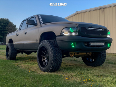 "2002 Dodge Dakota - 20x12 -44mm - Anthem Off-Road Liberty - Suspension Lift 3"" - 285/55R20"