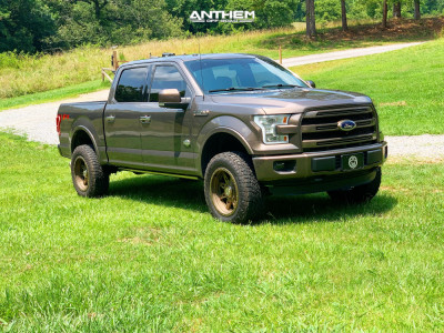 """2016 Ford F-150 - 20x10 -18mm - Anthem Off-Road Rogue - Suspension Lift 3.5"""" - 275/65R20"""