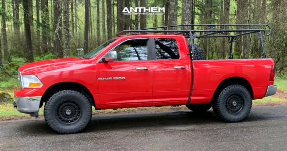 """2011 Ram 1500 - 18x9 0mm - Anthem Off-Road Viper - Suspension Lift 2.5"""" - 35"""" x 12.5"""""""