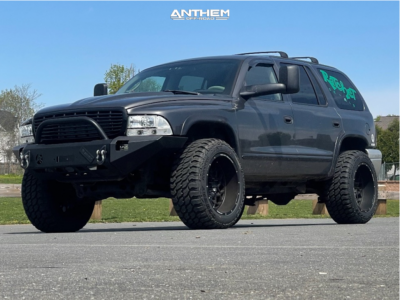 "2002 Dodge Durango - 20x12 -44mm - Anthem Off-Road Avenger - Suspension Lift 3"" - 33"" x 12.5"""