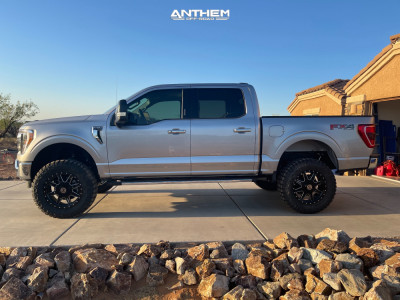 "2021 Ford F-150 - 20x9 0mm - Anthem Off-Road Rogue - Suspension Lift 6"" - 35"" x 12.5"""