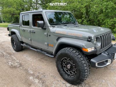 2021 Jeep Gladiator - 17x9 0mm - Anthem Off-Road Avenger - Stock Suspension - 315/70R17