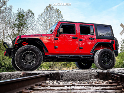 """2011 Jeep Wrangler - 17x12 0mm - Anthem Off-Road Rogue - Suspension Lift 2.5"""" - 35"""" x 18.5"""""""